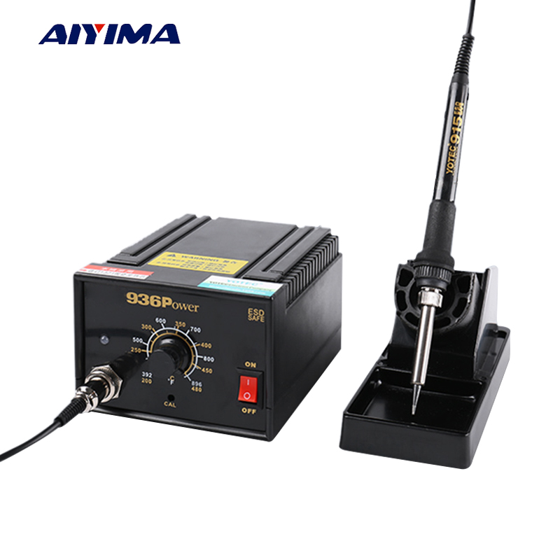 Aiyima 936 Electric Soldering Station 75W 110V 220V Anti-Static Constant Temperature Welding Thermostat Electric Iron A1321 Core 936 power electric soldering station smd rework welding iron w stand 110v 220v g205m best quality