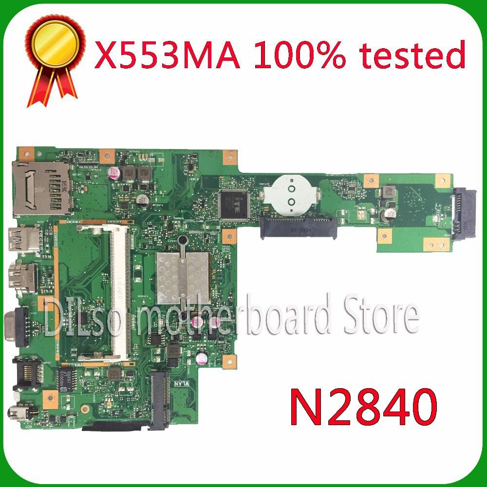 KEFU X553MA For ASUS X553MA x503m f553ma f553m Laptop motherboard X553MA mainboard REV2.0 N2840U work 100%