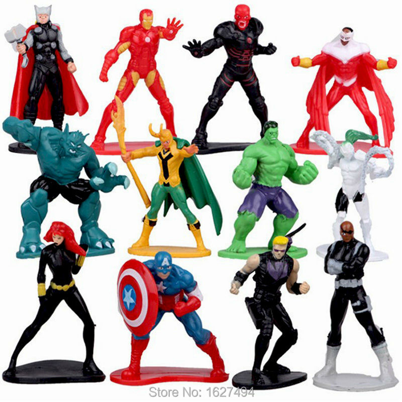 Super Hero Toys For Boys : Pcs lot cm avengers superheroes pvc action figures