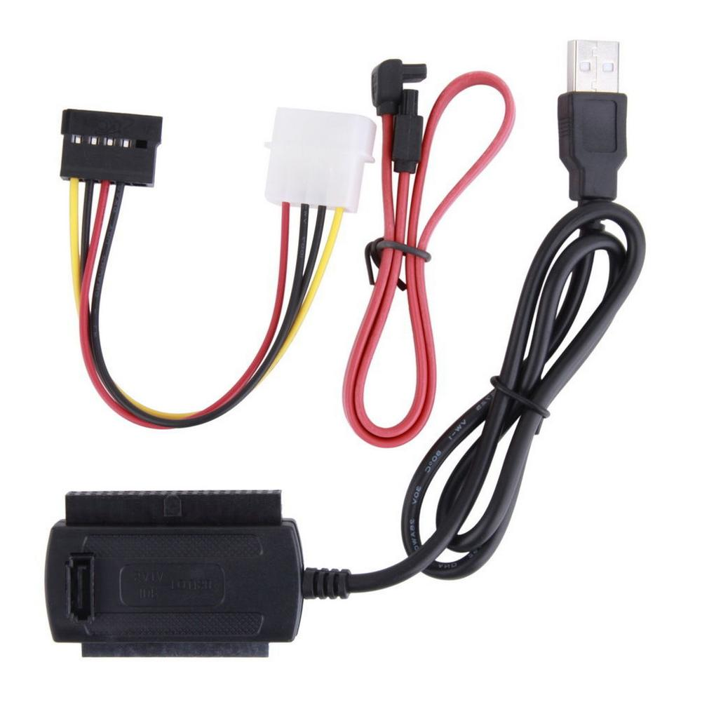 3 IN 1 SATA PATA IDE To USB 2.0 Cable Drive Adapter 2.5 HDD Converter Cables For 3.5inch Hard Drive FE
