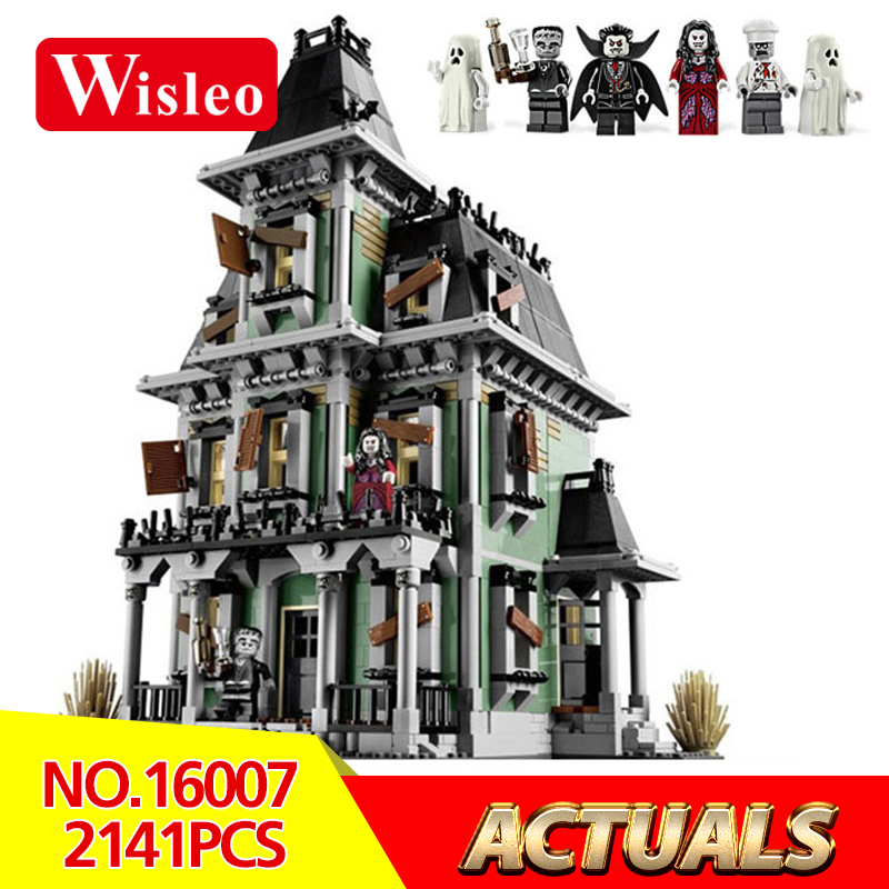 New 16007 2141Pcs Monster fighter The haunted house Model set Building Kits Model Compatible With LegoINGlys 10228 Gifts lepin 16007 2141pcs monster fighter the haunted house model set building kits model compatible with 10228 educational toys gifts