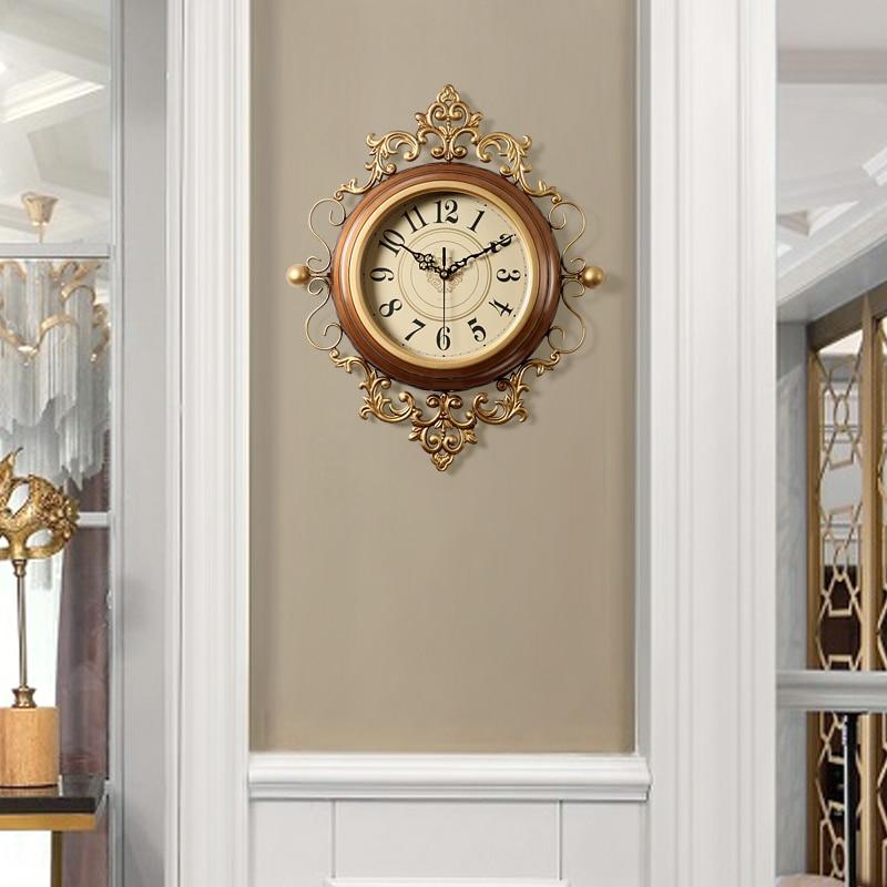 American Art di Lusso Orologio D'epoca Orologio Al Quarzo Creativo Europeo Orologio Da Parete Soggiorno Silenzioso Reloj Pared Casa 50w230 - 2