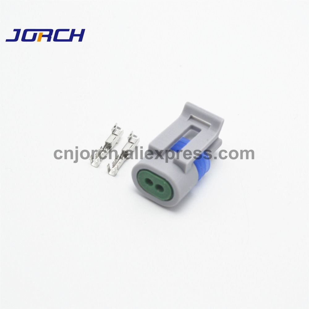 10sets Delphi 2 Pin Intake Air Temp Temperature Sensor Plug Waterproof Electrical Wire Connector For GM 12162197