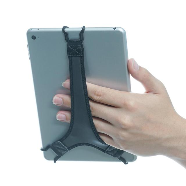 TFY Security e reader Hand Strap Holder Soft PU Finger Grip Compatible with Tablet   iPad mini / Galaxy Tab 2 / 3 / 4 , Black