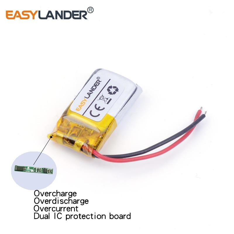 3 7V 80mAh Rechargeable Li-Polymer Li-ion Battery For bluetooth headset  mouse Bracelet Wrist Watch Self-timer bar 501220 501218