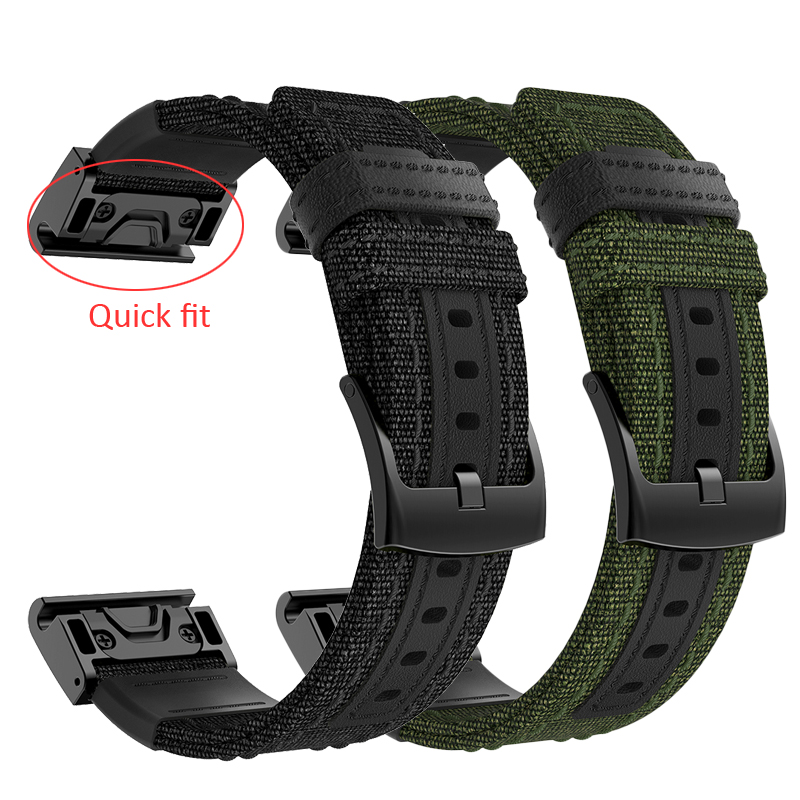 26 22MM Nylon Watchband Strap For Garmin Fenix 5X 5 3 3HR D2 S60 GPS Watch Release Quick Fit Wrist Band Strap For Forerunner 935
