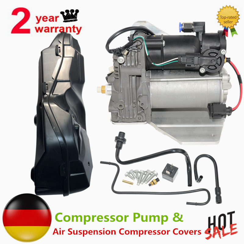 Compressore Pompa + Compressore Sospensioni Pneumatiche Coperture Per RANGE ROVER SPORT Discovery 3 & 4 LR038118 LR038148 RQG500130