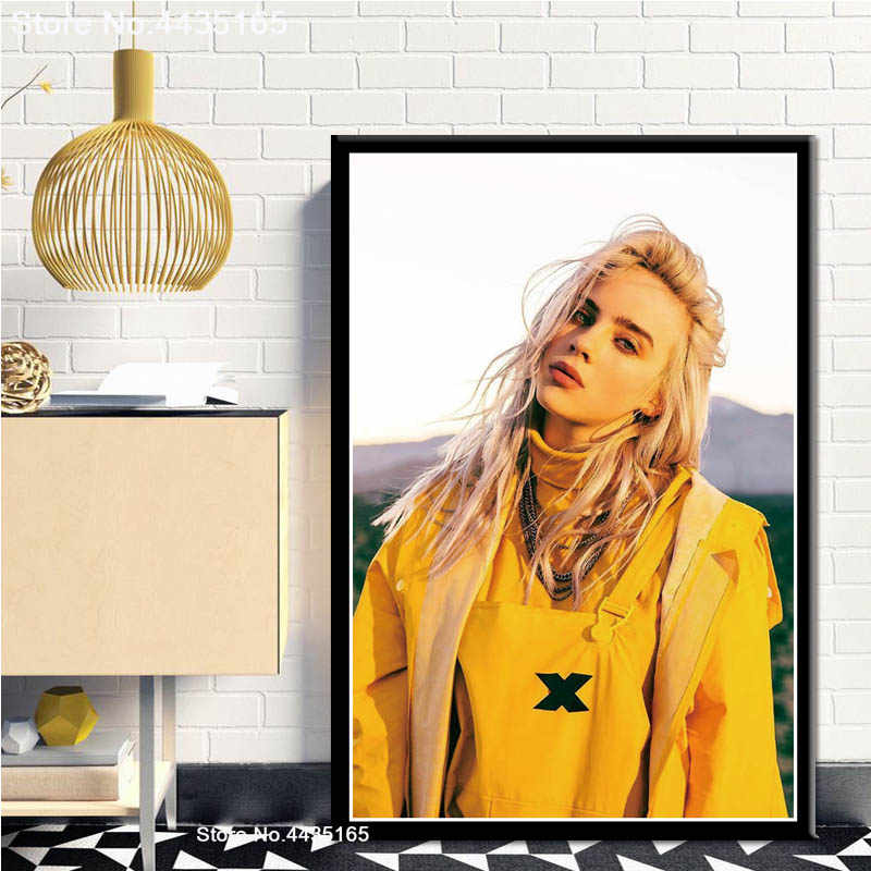 New Billie Eilish Poster Singer Star Posters And Prints Wall