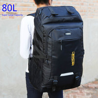 Super Large Capacity Package 80L Men or Women High Quality Luggage Bags Adding Enlarge Widen Capacity Family Big Travel Backpack