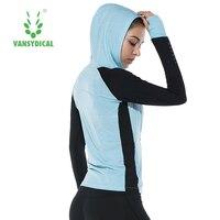 women sport coat workout clothes breathable long sleeve blouse training running Fitness Yoga Gym jacket Sweatshirt Hooded Zipper
