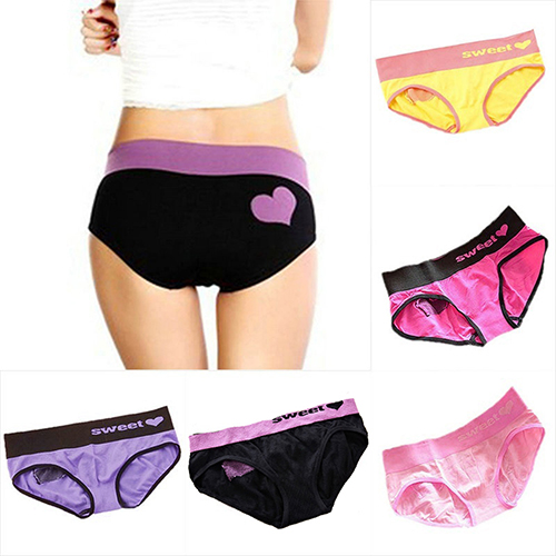 Buy Women Sexy Heart Pattern Underwear Seamless Panties Knickers Lingerie Briefs New Arrival