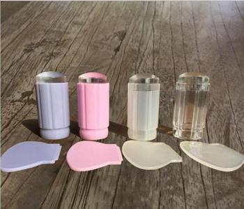 Claro gelatina creaciones artísticas para uñas estampadora silicona transparente malvavisco estampador de uñas y rascador herramientas de sello