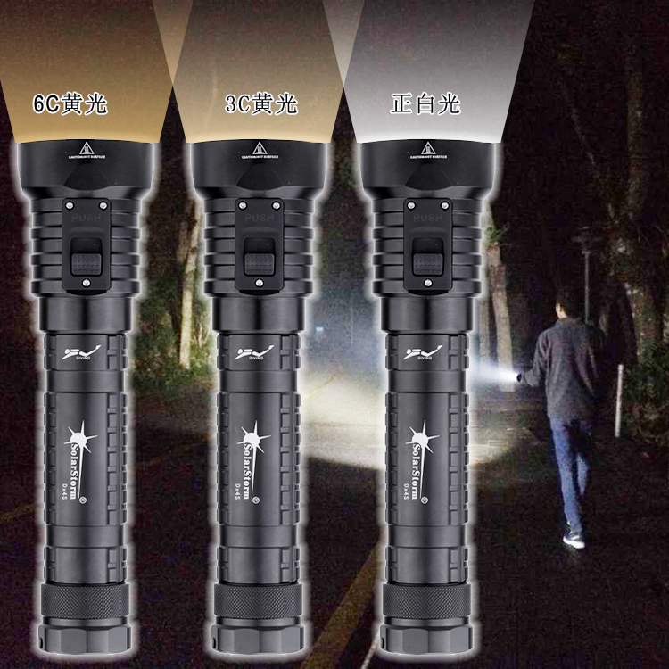Torch Submarine Lamp 8000 Lumens Flashlights DX4S LED Diving Flashlight IPX8 Waterproof 4x CREE XM-L L2 LED White/Yellow led flashlight 5000 lumens cree xml t6 torch lamp flashlights powered by 1 piece 18650 battery