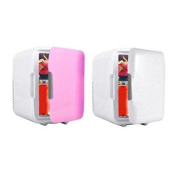 Портативный 4L автомобиля морозильник холодильник автомобиля домой двойной Применение холодильник автомобиля 12 В охладитель отопитель уни...