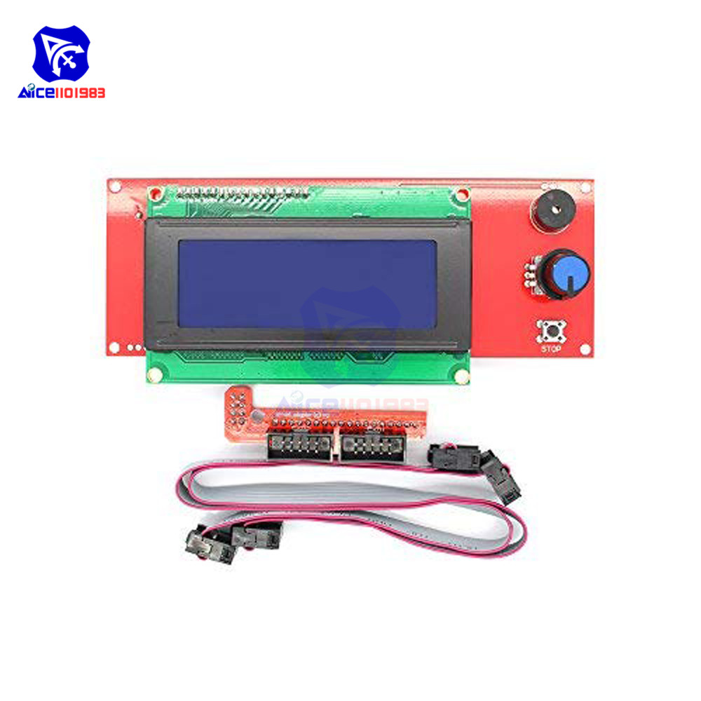 2004 LCD Smart Display Controller Module W/ Cable Adapter For 3D Printer Controller RAMPS 1.4 Arduino Mega Pololu Shield RepRap