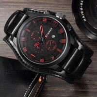 Relogio Masculino Curren Steampunk Sports Men Watch Top Brand Luxury Army Military Uhr Quartz Men Wrist