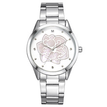 Relojes Disney marcas a prueba de agua Flores moda acero cuarzo damas Relojes de pulsera relogio relógios reloj