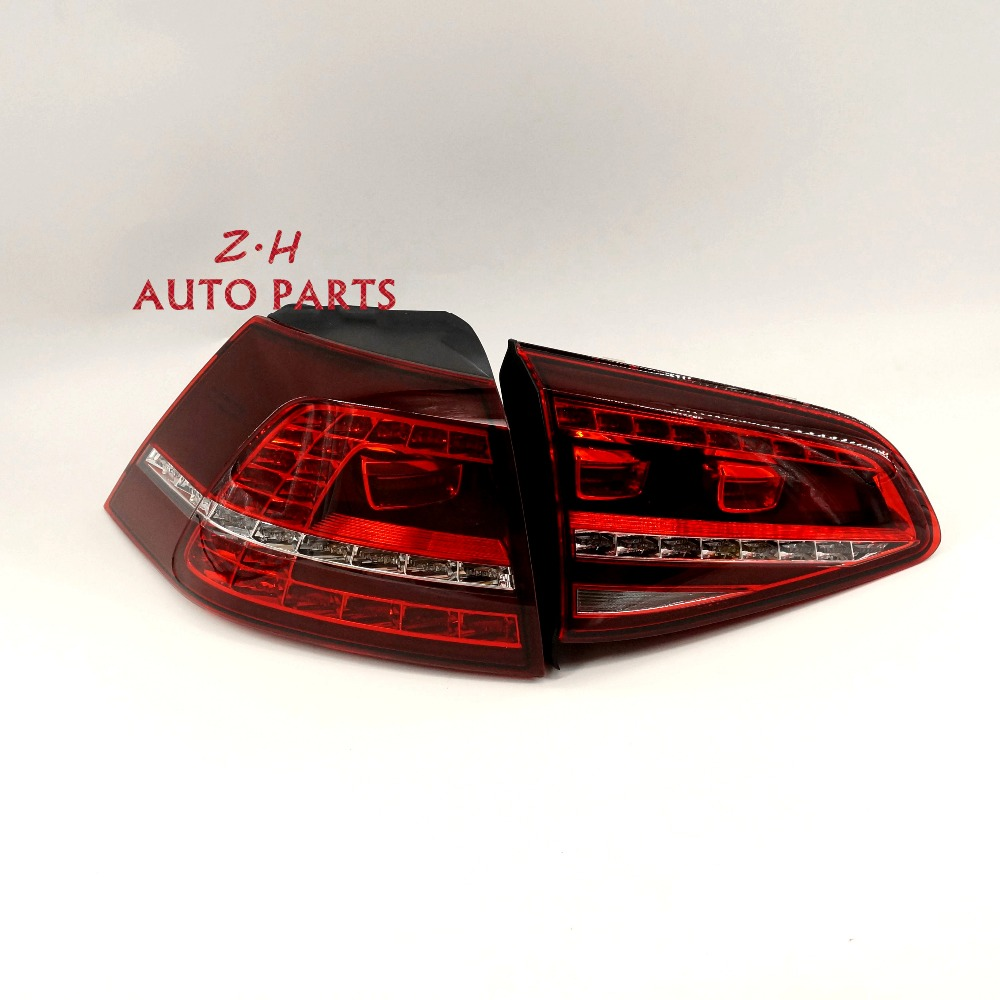 2PC NEW LED Dark Tail Rear Light Lamp Darkd Red Lamp Dynamic Tail Light Assembly For VW GOLF GTI MK7 14-16 5G0945208A 5G0945308A new high quality 1 piece led dark red tail lamp tail light right fit for vw golf gti r mk7 2013 2016 5g0 945 208 5g0945208