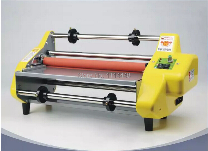 13 Laminator Four Rollers Hot Roll Laminating Machine Cold & Hot Laminator 1pc 12th 8460t a2 multi function laminator hot roll laminating machine high end speed regulation laminating machine