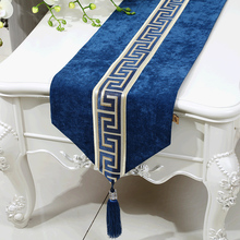 Patchwork Luxury Velvet Table Runner Cloth Dining Protective Mats High End European American style Tassel Rectangle Pads
