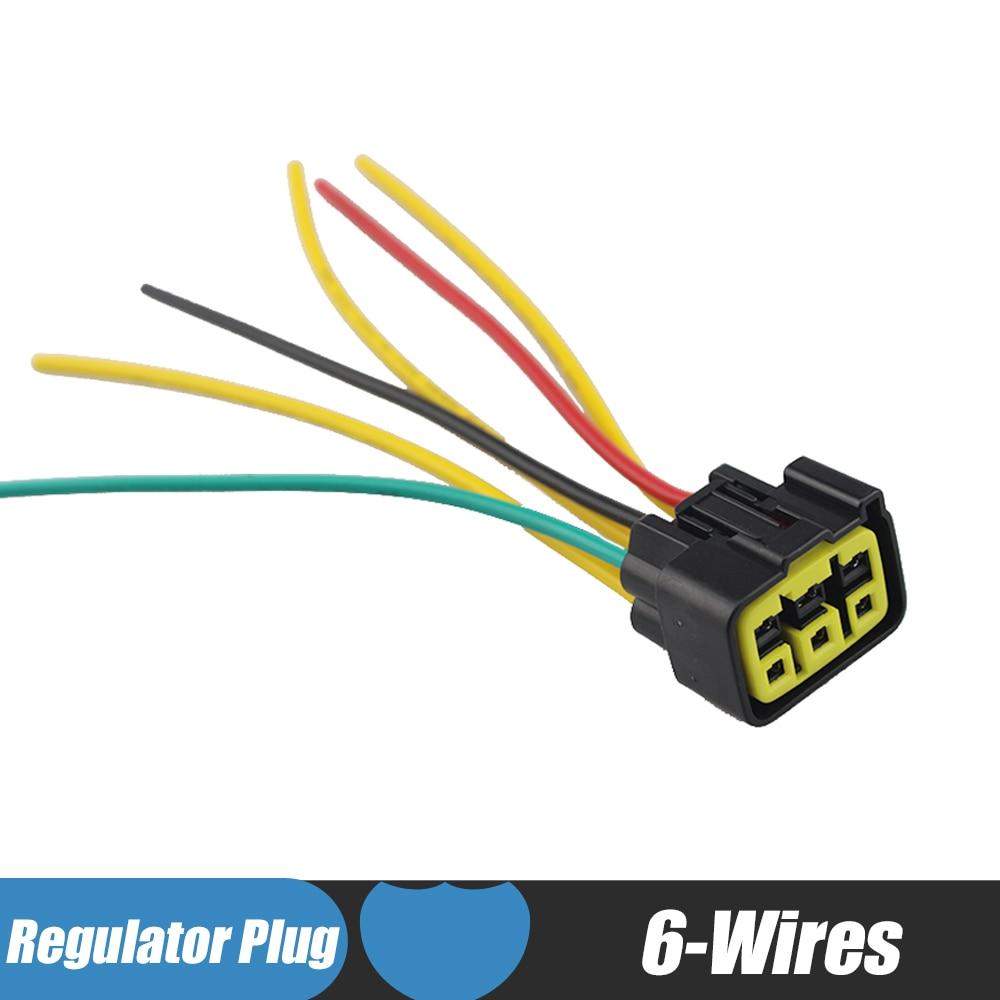 medium resolution of 6 wires motorcycle regulator rectifier plug voltage rhaliexpress arctic cat regulator rectifier wiring diagram at