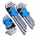 9 шт. 1.5 мм-10 мм Шестигранный Ключ Гаечный Ключ набор Инструментов матовый Хром Мяч Конца Гаечный Ключ набор Отверток Набор Инструментов Herramientas