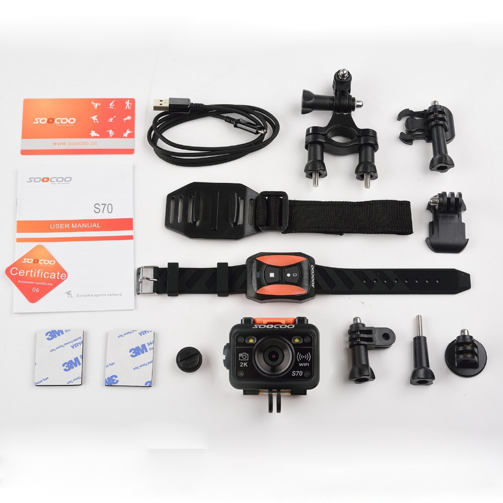 SOOCOO S70 Action Camera Packing List