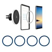 Soporte de montaje de teléfono de coche magnético, anillo magnético de Metal, Universal, aro del hierro redondo para cargador inalámbrico Qi Magsafe iPhone 12Pro 12Mini 11Pro XS Max XR 8Plus Samsung Galaxy XIAOMI