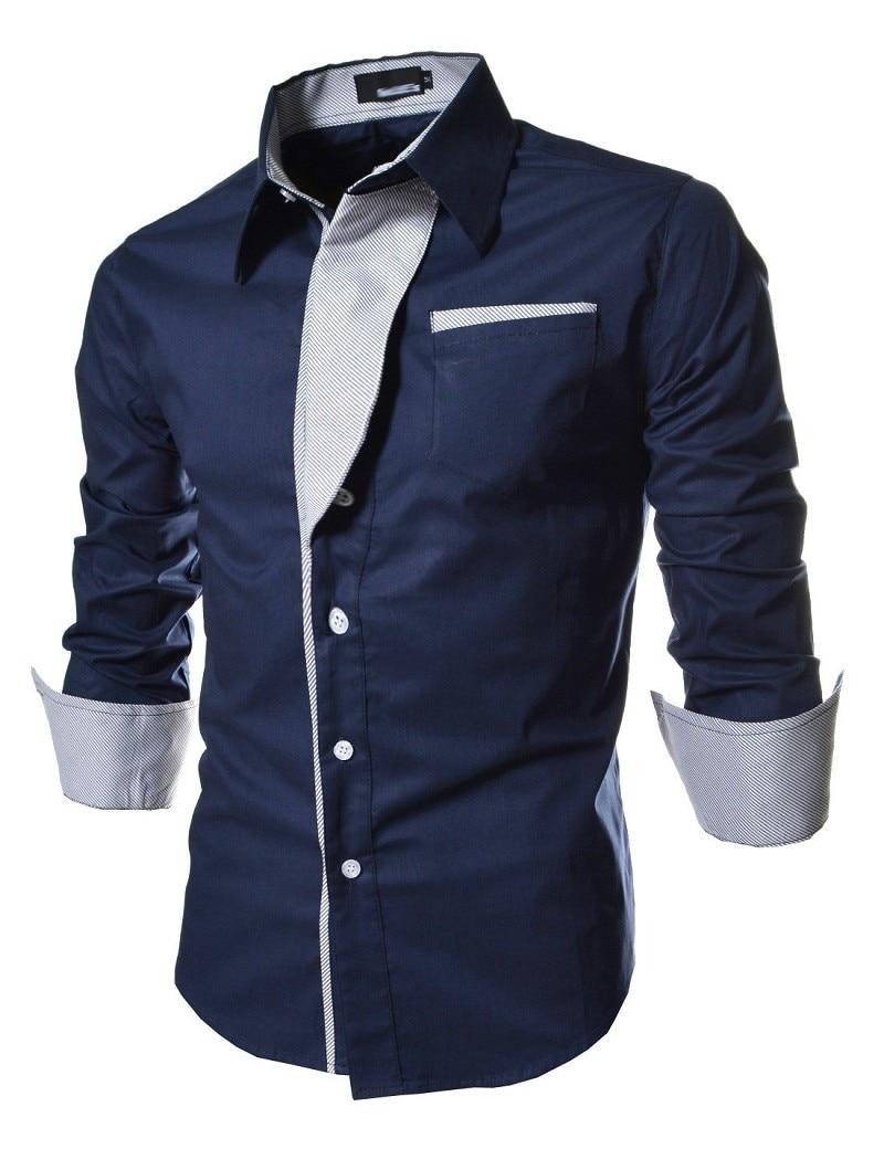 2016 new casual shirts long sleeved men shirt business for Best mens dress shirts 2016