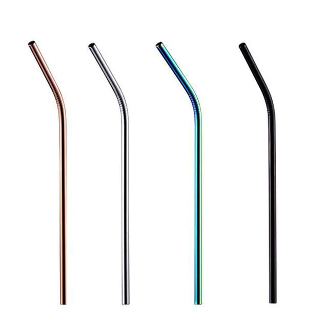 Reusable Durable Eco-Friendly Stainless Steel Drinking Straw