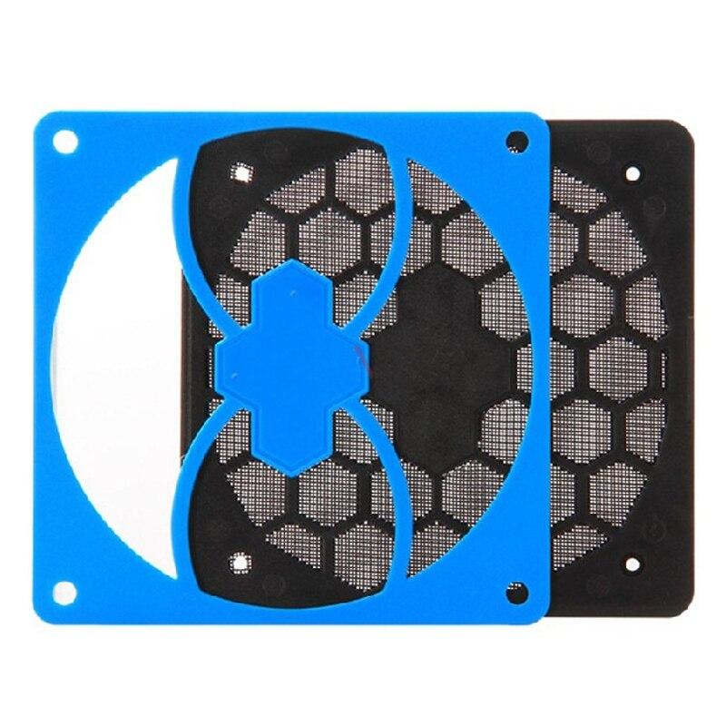 1 Stücke 14 Cm Staub Netzwerk Pc-gehäuse Lüfter Computer Staubdichte Abdeckung Gel Mit 4 Stücke Silikon Schrauben Nägel Blau Und Verdauung Hilft