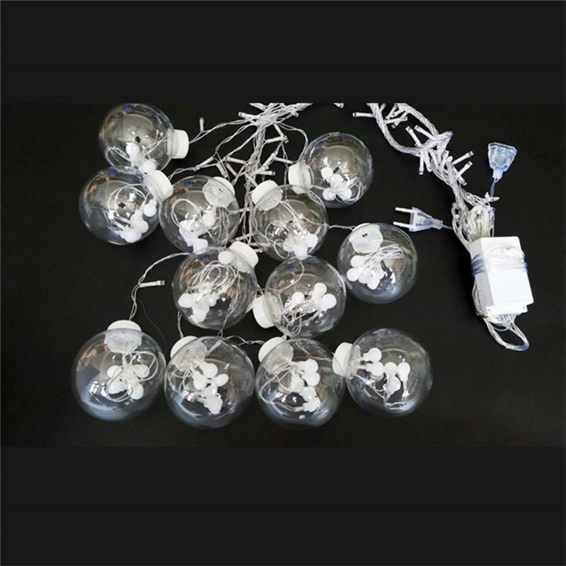 3M Globe LED Garland Starry Crystal Wishing Ball String Lights Decors for Curtains Bedroom Living Room Balcony Christmas Wedding