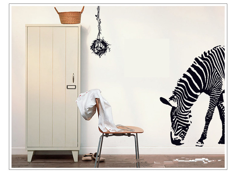 NEW vivid zebra Feelings nature,decoration lovely home DIY Art Wall Home Decor Style decal belong Own mural,Warm home