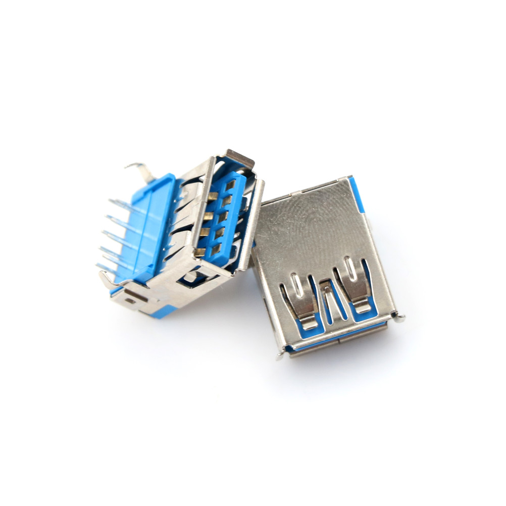5 Pcs USB 3.0 Type DIP Type A Female Right Angle 9 Pin DIP Socket Connector 90 degrees