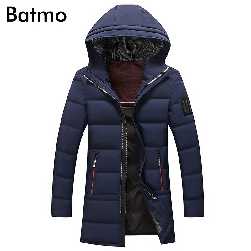 Batmo 2017 new arrival winter high quality 90% white duck down casual hooded jacket men,winter mens coat plus-size ,8987