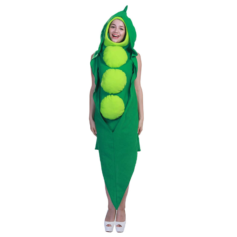 Adult women green peas pea costume pisum jumpsuit Christmas Halloween cosplay party costume