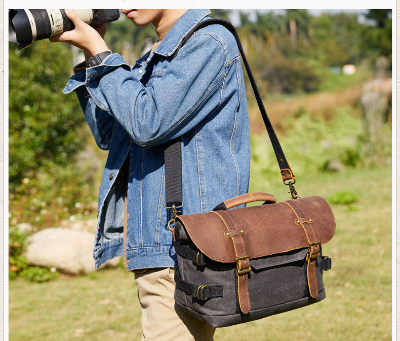 mens crossbody camera bag