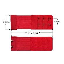 Женский бюстгальтер удлинитель 3 ряда 2 крючка эластичная Регулируемая удлиненная застежка для нижнего белья-MX8
