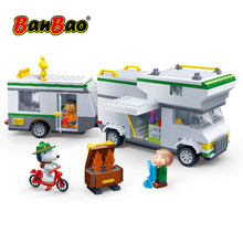 BanBao 7513 Hot IP Snoopy Peanuts Touring Car Plastic Building Bricks For Children Educational Model DIY Bricks compatible Brand(China)