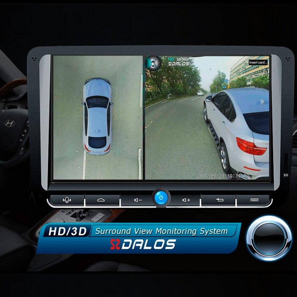 Newst SZDALOS Original HD 3D 360 Surround Sistema de Visão condução apoio Opinião Do Pássaro Sistema Panorama 4 câmera Do Carro 1080 P DVR G-Sensor