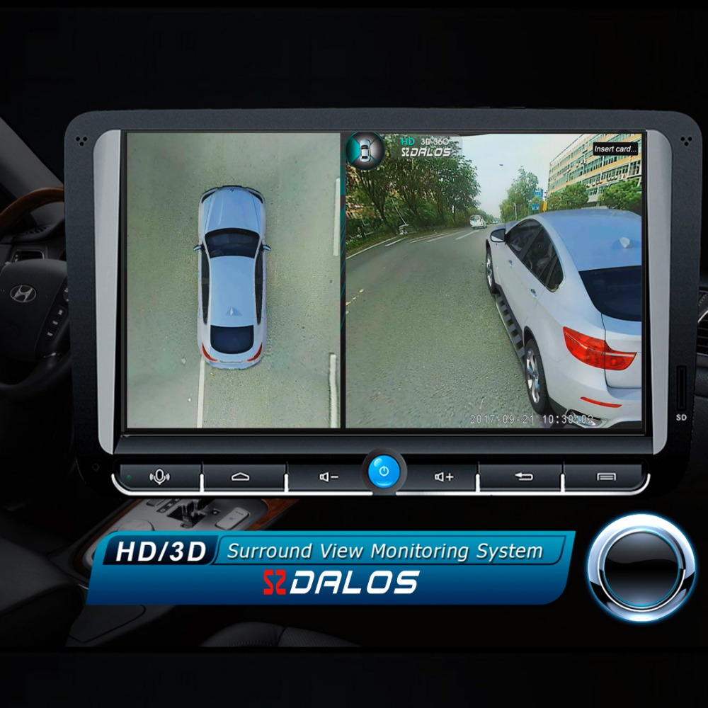 SZDALOS Originale Newst HD 3D 360 Surround Sistema di Visione di guida Sistema di supporto Vista Uccello Panorama 4 della Macchina fotografica 1080 P DVR G-Sensor