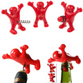 New 2016 Creative Red Happy Man Wine Beer Bottle Cap Funny Stopper Cork Bar Novelty Gifts