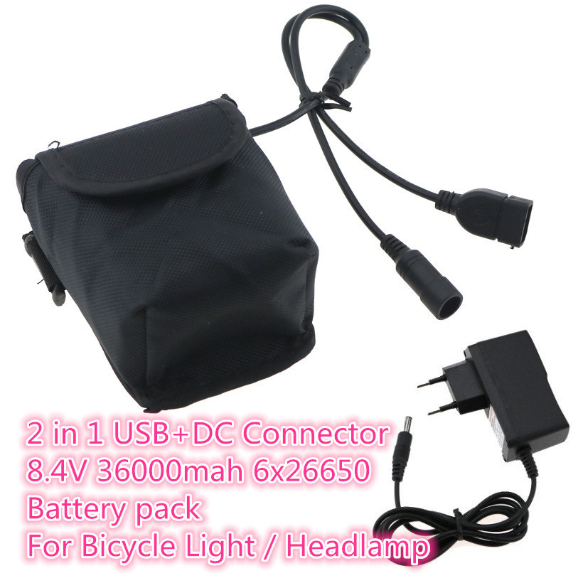Bike, mAh, Charger, For, USB, LED