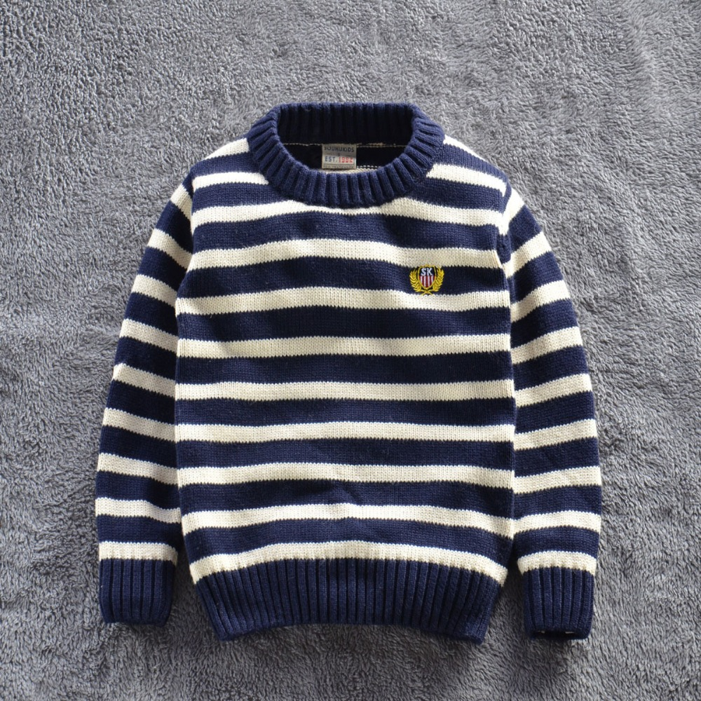 ФОТО 2015 New kids autumn/winter wear Children sweater kid's casual sweaters fashion striped for baby boy's Pullover 5sizes for 2-7T
