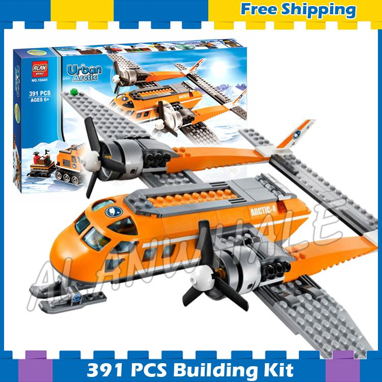 391pcs City Arctic Supply Plane Ice Utility Vehicle 10441 Model Building Blocks Children Assemble Gift sets Compatible with Lego