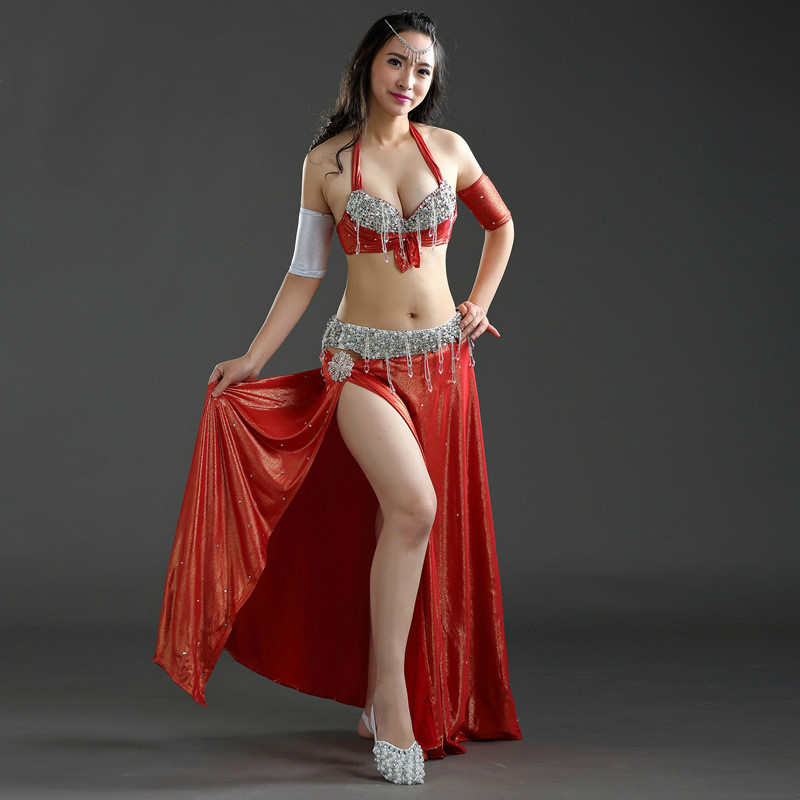 Oriental Dance Costumes Pollywood Skirt Bra Armband Hot -5432