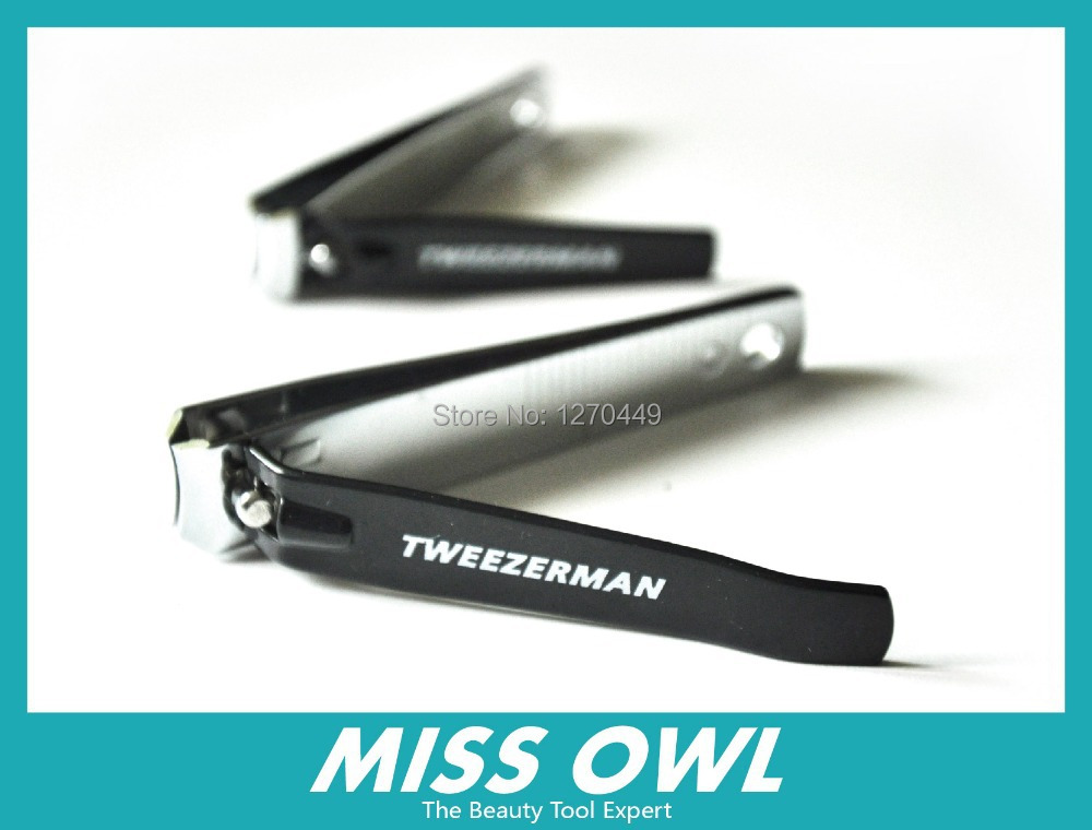 Free Shipping Tweezerman Professional Stainless Steel Black Color Deluxe Nail Clipper Set Brand 2017 New In Art Equipment From Beauty Health On