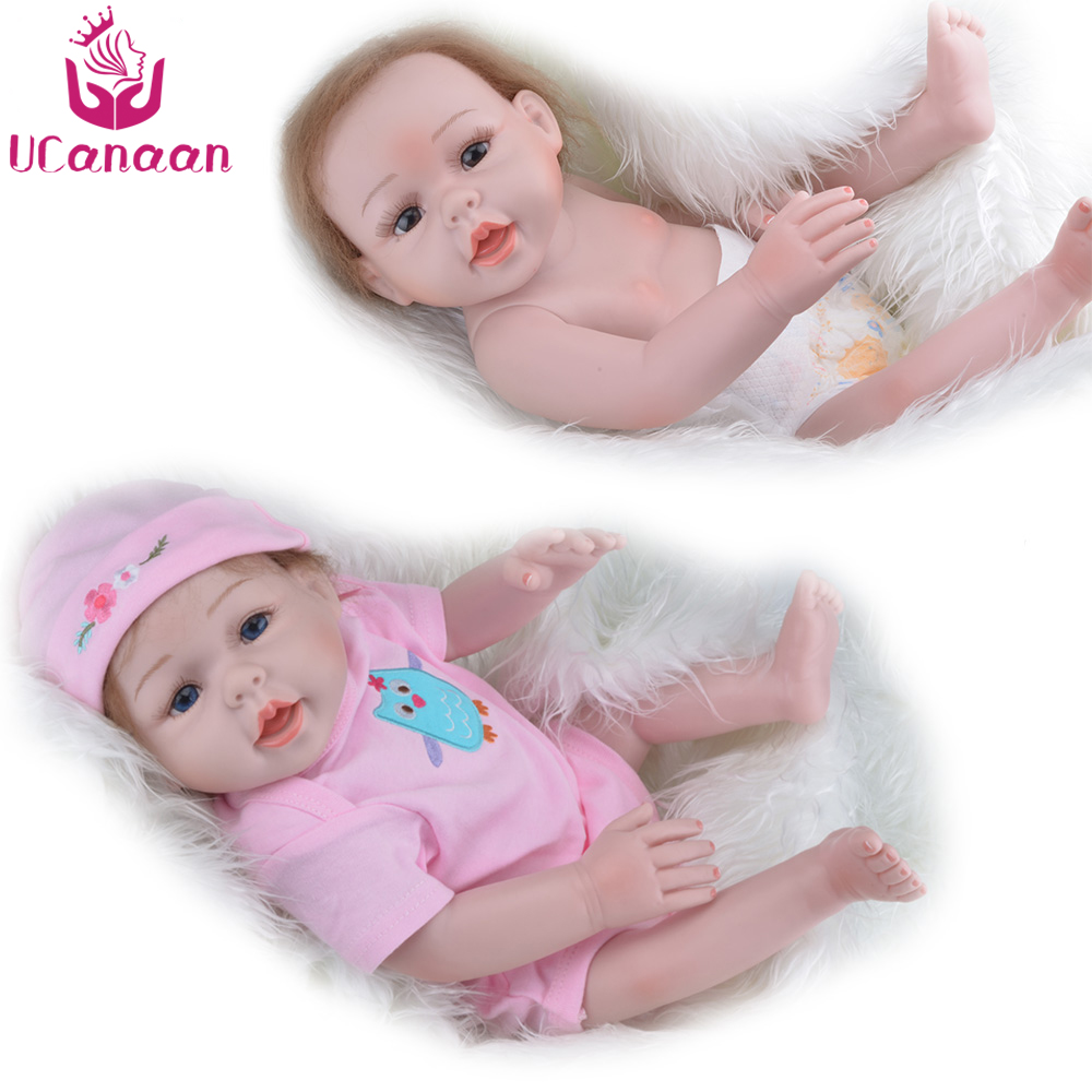 52cm Silicone Reborn Baby Doll kids Playmate Gift For Girls 18 Inch Baby Alive Soft Toys For Bouquets Doll Bebe Full Vinyl 57cm full silicone shower doll reborn baby boy doll kids playmate gift handmade lifelike bebe juguetes babies toys for bouquets