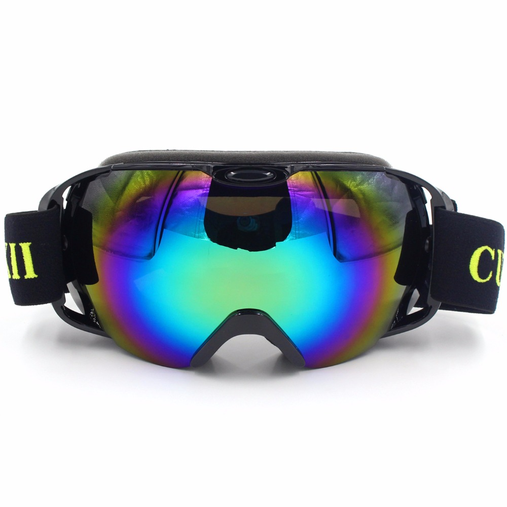 Prix pour Cuzaekii HX-012 Ski Snowboard Lunettes UV400 Anti-brouillard À Double Lentille Motoneige Ski Snowboard Lunettes Masque Lunettes De Sport