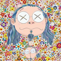 Oil Painting On Canvas 100 Cotton Core Takashi Murakami Work YGH046